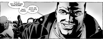 He wasn't lying about Negan's mouth!