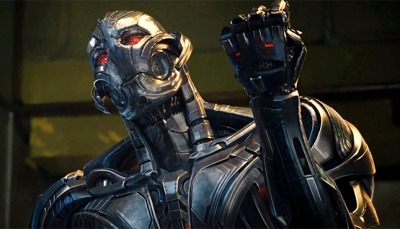 Ultron performing the universally known hand gesture for 'wanker'